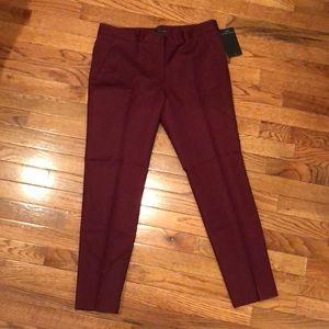 NEW Zara Slim Burgundy Cigarette pants Size M